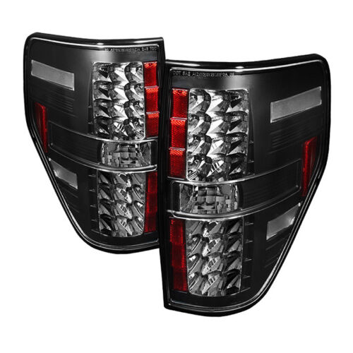 Ford 09-14 F150 Black LED Rear Tail Light Brake Lamp Set XL XLT STX FX2 FX4