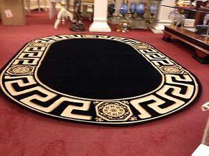 Oval Seiden Teppich barock Gold-Schwarz 240x160cm medusa Versac Rug Carpet - Berlin, Deutschland - Oval Seiden Teppich barock Gold-Schwarz 240x160cm medusa Versac Rug Carpet - Berlin, Deutschland