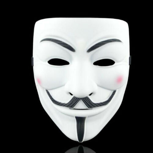 Details about  /Anonymous Hacker V-Vendetta Game Mask Children Halloween Party Cosplay Master