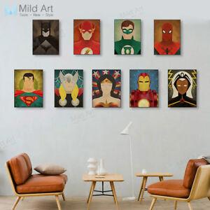 Image Is Loading Modern Superhero Batman Movie Poster Vintage Kids Room