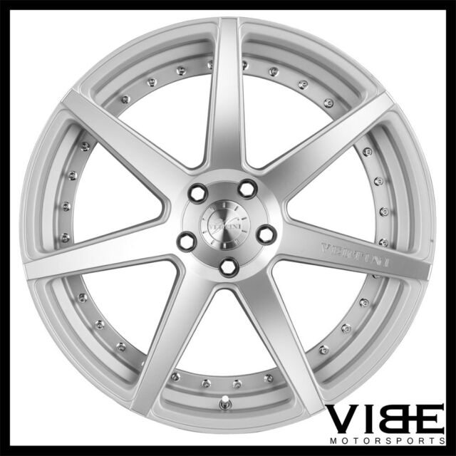 20 Vertini Dynasty Silver Concave Staggered Wheels Rims Fits Lexus