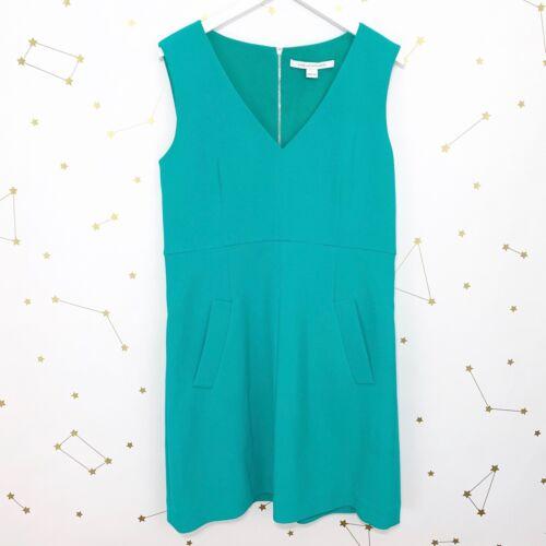 Diane von Furstenberg Dress Size 14 Teal Green Sle
