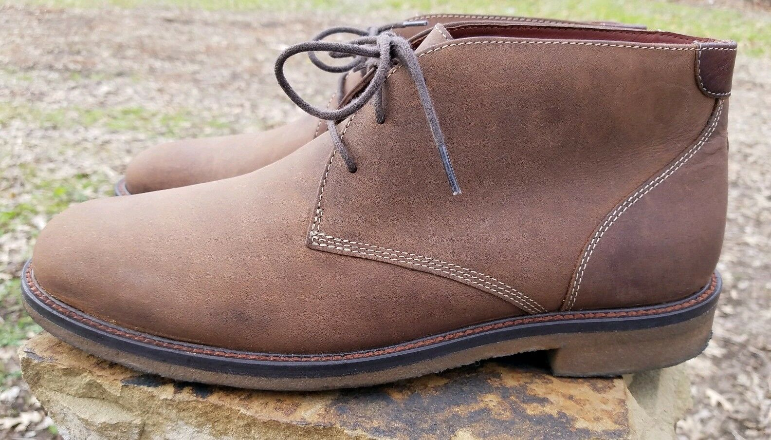 Johnston Murphy 251870 BROWN Men's shoes Size 9.5 M Leather Boots