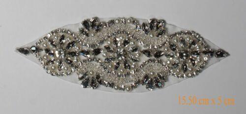 1 X Diamante Motif Applique Rhinestone Sew on#1-11