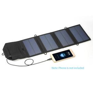 USB 7W 5V Pieghevole Carica Batteria A Pannelle Solare Per Cellulare G0G4