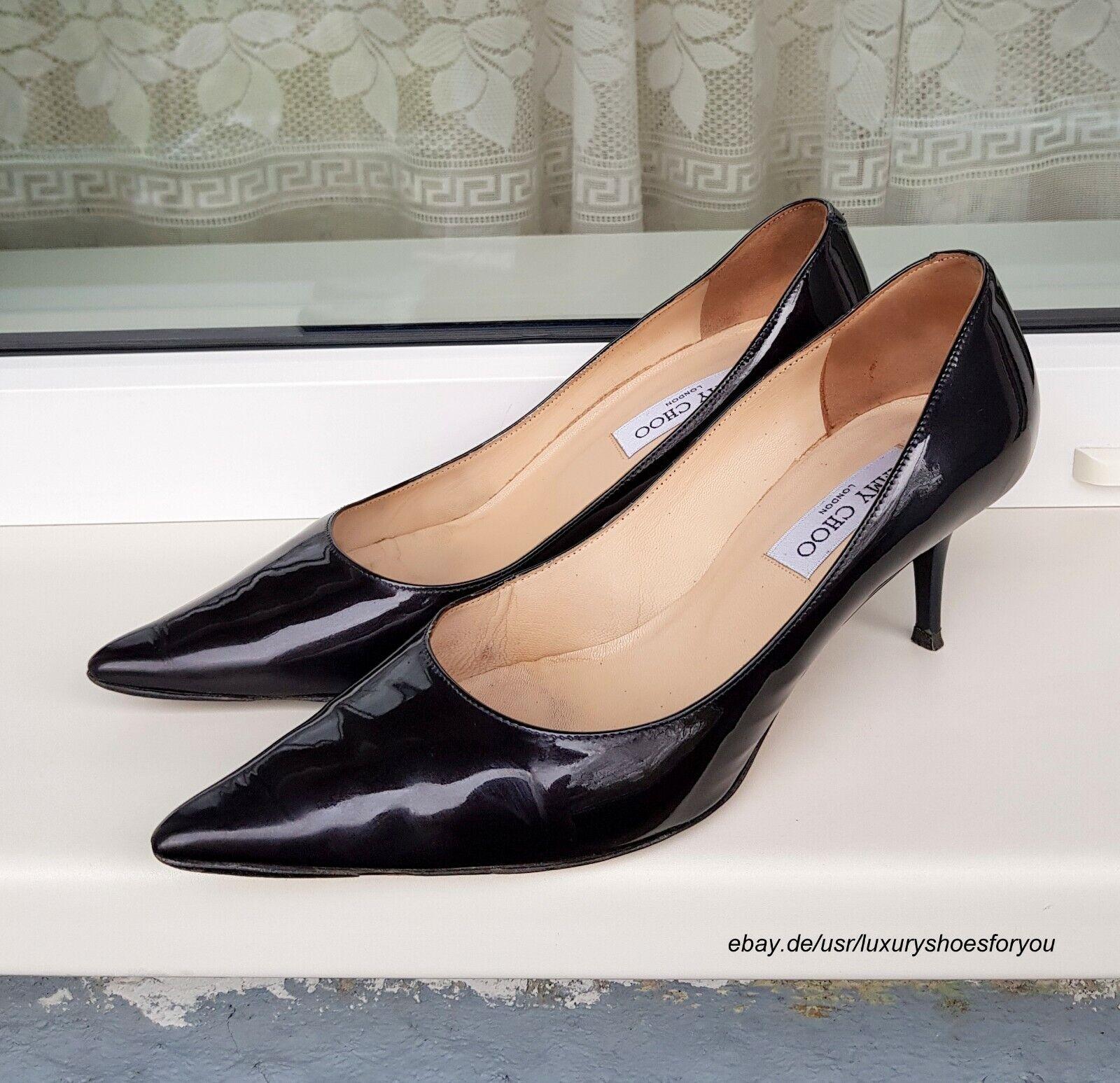 Jimmy Choo viola Patent  Leather Heels Dimensione 39.5.  negozio online