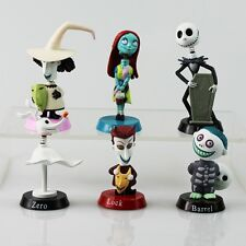 Nightmare Before Christmas CAKE TOPPER Jack Skellington Sally (6 pc Set)