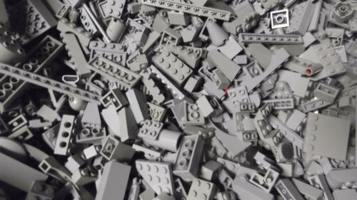 LIGHT BLUISH GRAY LEGO PIECES FROM HUGE BULK LOT BRICKS PARTS@  RANDOM NEW 100