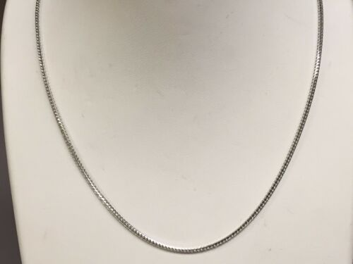 """14k White Gold Franco Curb Box Link 20/"""" 1.2mm  4.5 grams pendant chain Necklace"""