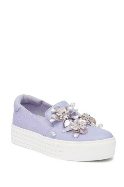 62503e73b656 Kenneth Cole Reaction Lavender Women s Shoes Cheer Floral Platform Sneakers  8 M