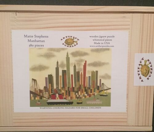 """Artifact Puzzles /""""Manhattan/"""" by Matte Stephens 380 Pieces Brand New RARE"""