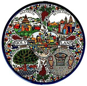 Collectible-Armenian-Plate-Size-9cm-From-The-Holyland-Jerusalem