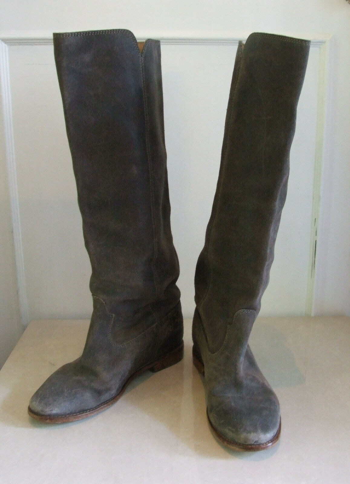 Designer Isabel Marant Fabulous Tall Heavy Duty grau grau grau Leather Stiefel EU 41-UK 7.5 741e29