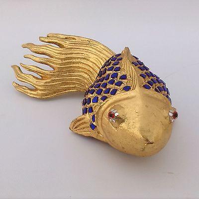 Aufstrebend Koi Carassius Auratus Goldfisch Gold Teich Japan China Skulptur Fisch Dekoration PüNktliches Timing