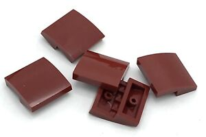 Lego 5 New Dark Red Slope 30 Sloped 1 x 2 x 2//3 Pieces