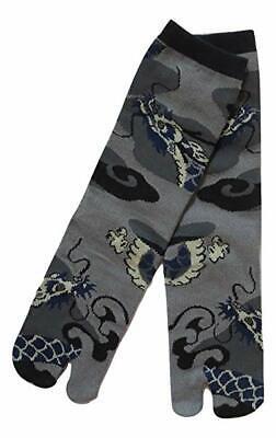 Chaussettes japonaises TABI Homme,Femme 39//43 grises motifs Dragon
