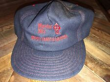 Vintage Denim Snap Back Trucker Ball Cap Hat Master Mix Depot Farm & Garden