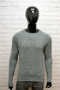 Hollister-Uomo-Taglia-M-Maglione-Felpa-Sweater-Man-Cardigan-Pullover-Cotone