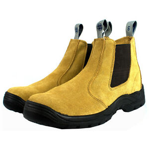 YWing-Suede-Leather-Steel-Toe-Safety-Work-Boots-Honey-All-Sizes-Size-5-To-13