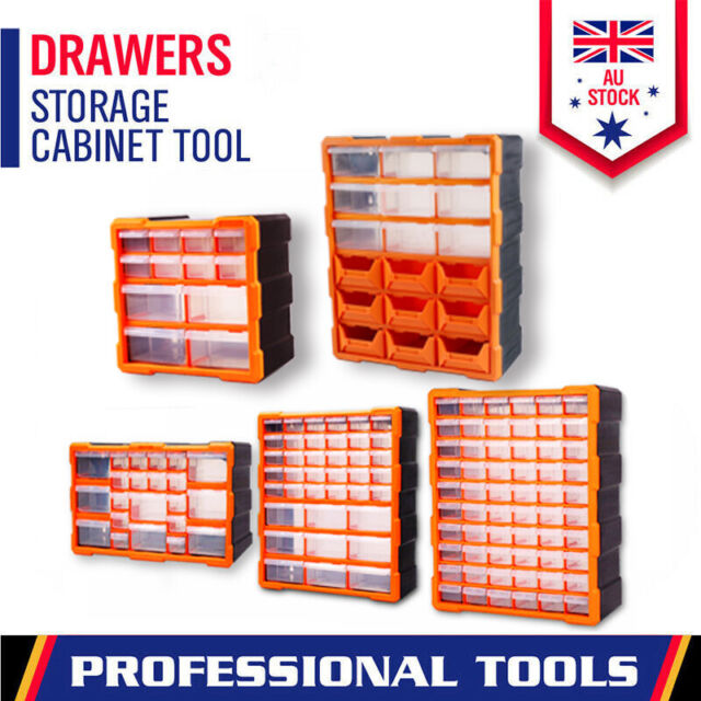 Tool Storage Bin Parts Organizer Drawers Cabinet Box Chest Plastic With Dividers
