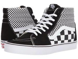 Image is loading Vans-Mix-Checker-Black-White-Checkered-Sk8-Hi- f1015a236