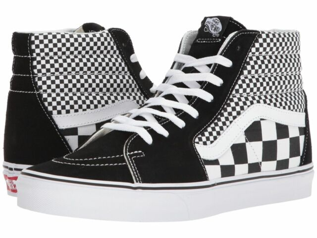 black and white checkered vans on sale