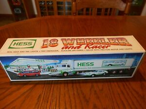 1992 HESS 18 WHEELER TRUCK AND RACER NIB