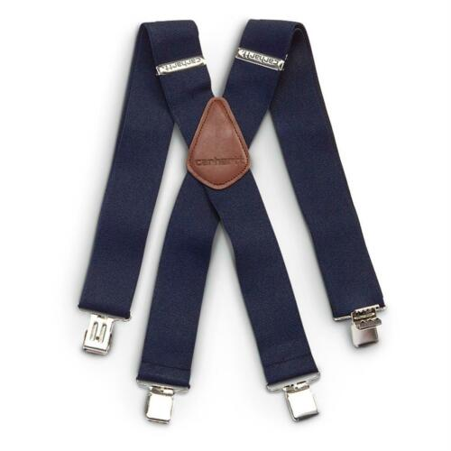 "Carhartt Men/'s 2/"" Utility Clip-On Suspenders w Leatherette Patch-Free Shipping!!"