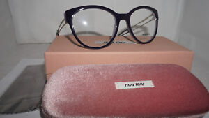 4530b5036d7 MIU MIU RX Eyeglasses New Lilac Purple Pale Gold MU 03PV USN1O1 54 ...
