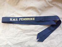 Original British Royal Navy HMS Pembroke Cap Tally - Genuine Issue