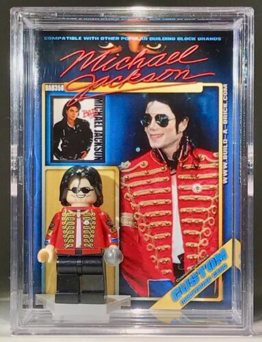 Michael Jackson Custom Mini Action Figure w Display Case /& Stand Thriller Bad