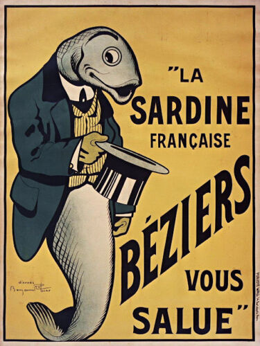 CANVAS vintage la sardine Art print POSTER