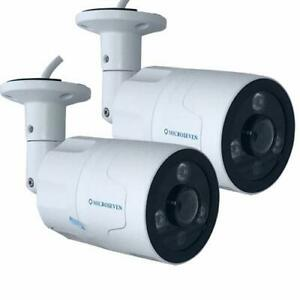 Details about 2 Microseven 1080P/30fps POE Outdoor IP Camera Two-Way  Audio,128GB SD Slot,Alexa