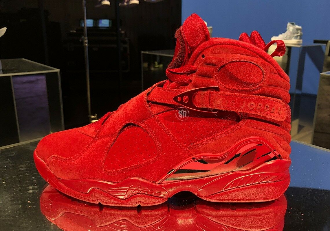 d6cb3506485 Nike Air Jordan 8 Valentine Day Gym Red AQ2449-614 Womens 9.5 Mens 8 VIII  Retro nxdbnd1699-Athletic Shoes