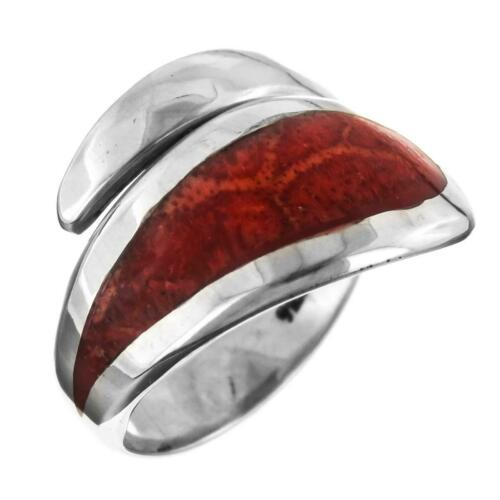 Handmade Corail Rouge 925 Sterling Silver Ring
