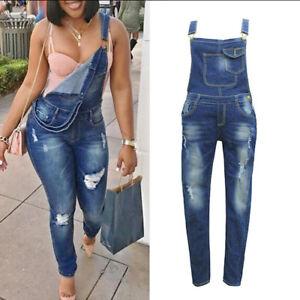 meticulous dyeing processes latest design wide varieties Details about Fashion Women Straps Jumpsuit Denim Jeans Bib Pants Overalls  Rompers Trousers