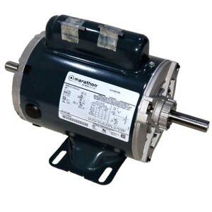 Details about MARATHON 1 HP 3600 RPM ODP 115/230V 56Z DOUBLE ENDED SHAFT, 1  PHASE MOTOR C449