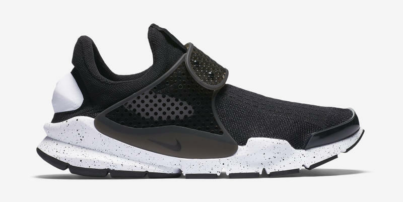 Nike Men Sock Dart SE Dark Black White 11 833124-001 shoes Brand New In Box Oreo