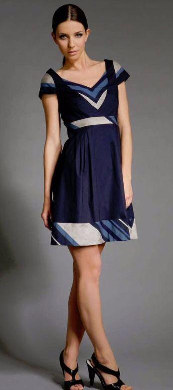 Abaete ADAM STRIPE PRINT DRESS, Size 8 8 8 4c53bc