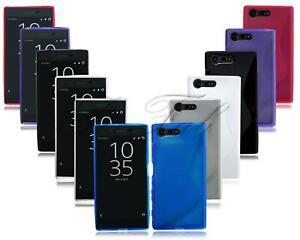 Nuevo Fino Gel de Silicona Goma Genuino Funda para Teléfono Sony Xperia Móvil