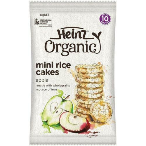 Heinz Organic Rice Cakes 40g Baby Food Travel Easy
