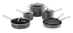 New Calphalon 10 Piece Classic Nonstick Cookware Pots Pans Kitchen