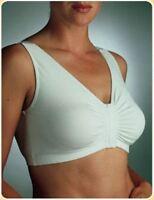 White Easy Front Opening Bra Eezee Bra Arthritis Bra Size 50