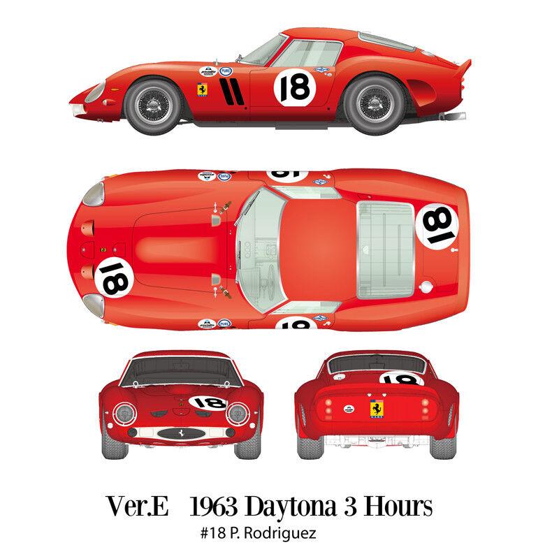 1 12 Multimedia kit-Ferrari 250 GTO Ver.E  1963 Daytona 3Hours P.Rodriguez