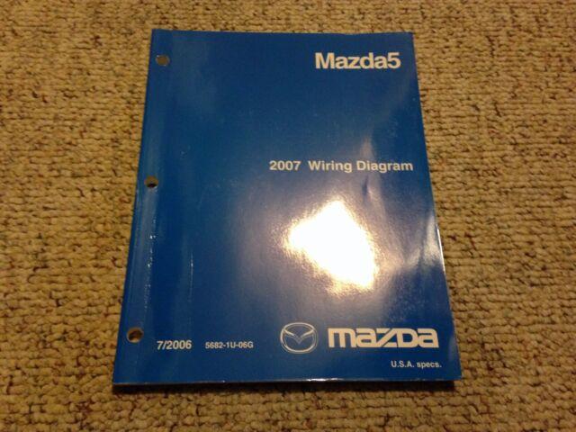 2007 Mazda5 Mazda 5 Factory Original Electrical Wiring Diagram Manual Book