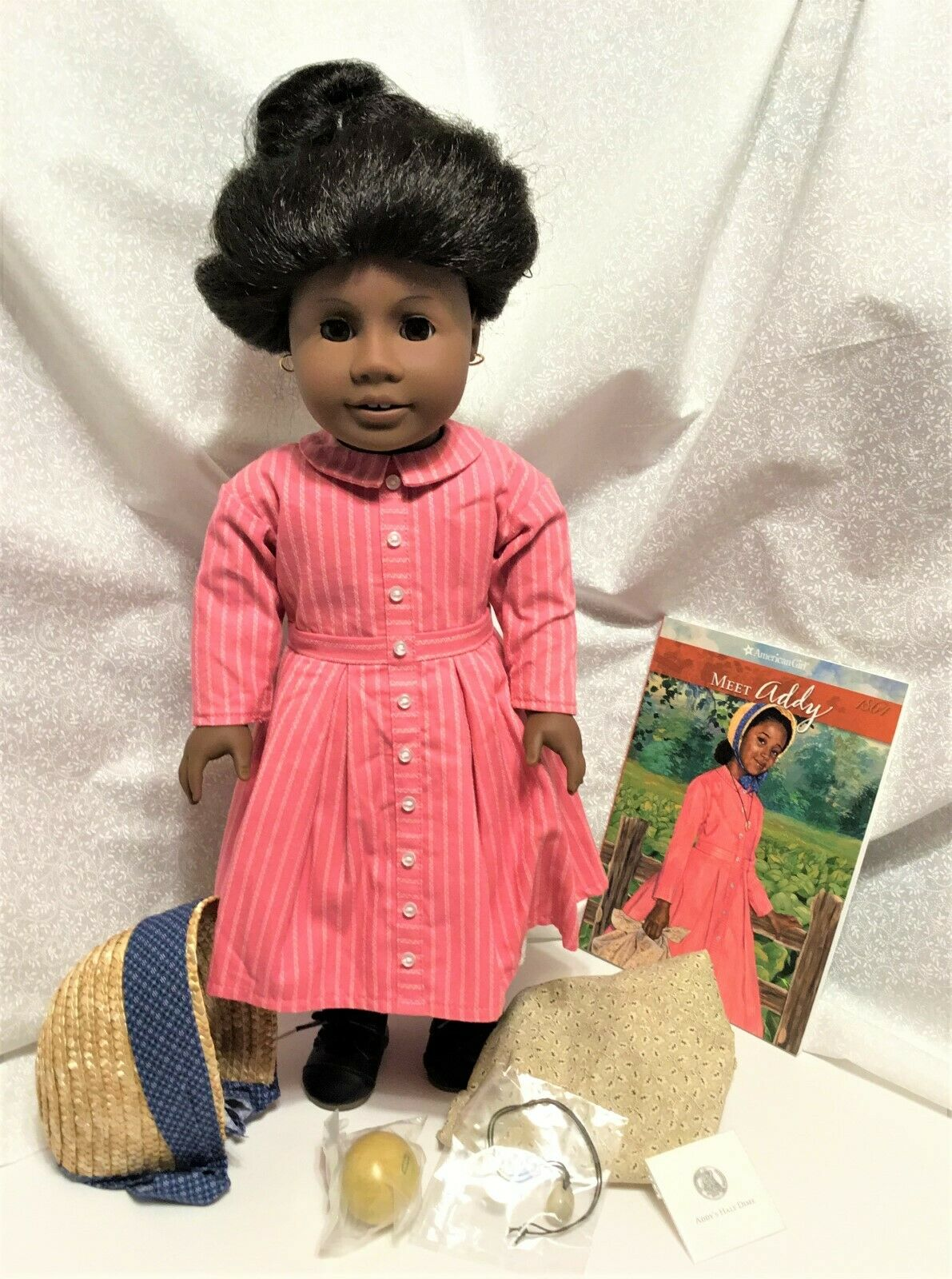 American Girl Doll Addy, Paperback Book and Accessories NIB Pre Be Forever