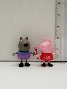 2-PCS-Peppa-Pig-Family-amp-Friends-Figures-toys-Lot-of-2-Fast-Shipping