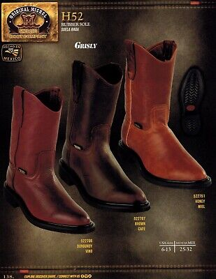 Original Michel King Exotic Men/'s H52C Grisly Leather Cowboy Western Work Boots