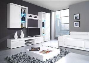 MODERN HIGH GLOSS TV CABINET TV SET TV WALL UNIT TV STAND SAM B - Tv wall units ebay