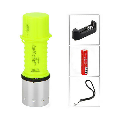 2000 LM CREE XML T6 LED Warm Light Diving Torch Flashlight AAA/18650 Waterproof